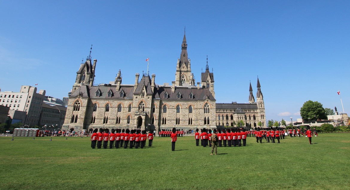 Changing of the Guard on Parliament Hill